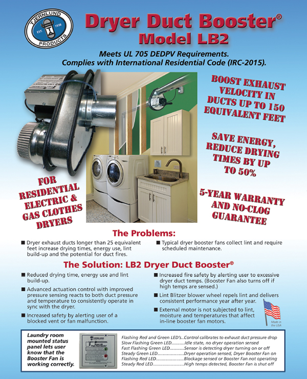 Residential Capacity Dryer Duct Booster Dryer Boosting