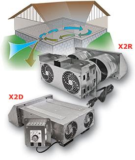 tjernlund xchanger reversible basement fan x2d 220 cfm crawl space